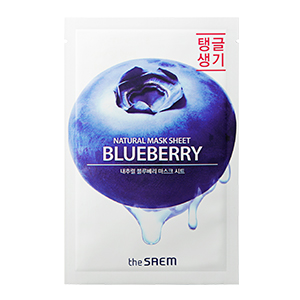 THE SAEM Natural Blueberry Mask Sheet 21ml
