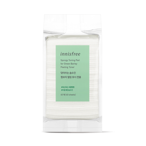 Innisfree Spongy Toning Pad for Green Barley Peeling Toner 40P
