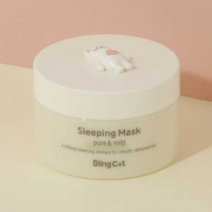 TONYMOLY [Bling Cat] Sleeping Mask Pure & Mild 80ml