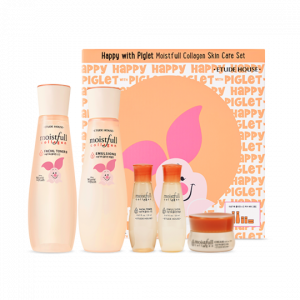 Etude House Happy With Piglet Moistfull Collagen Skin Care Set 1ea