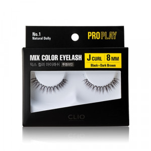 CLIO Pro Play Mix Color Eyelash (Clear Line) 1ea