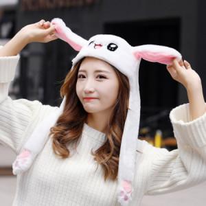 [C] Market Me Moving Ear Rabbit Cap 1ea