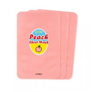 APIEU Peach & Yogurt Sheet Mask 23g*3ea
