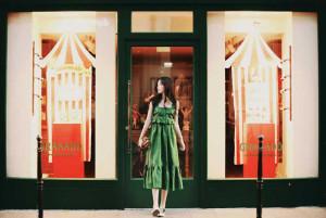 [R] Milkcocoa Linen 85%.Fresh Green Dress 1pcs