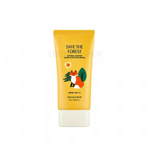 The Face Shop [Save The Forest] Natural Sun Eco Super Active Sun Cream SPF50+ PA++++ 50ml
