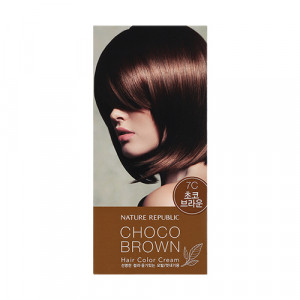 NATURE REPUBLIC Hair & Nature Hair Color Cream For Nice (7C Choco Brown) 120g