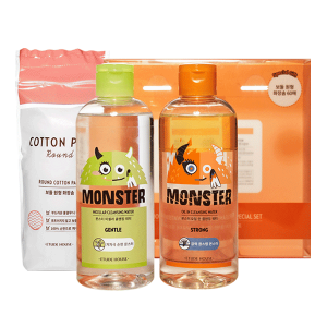 Etude House Monster Cleansing Water Duo Special Set 300ml+300ml+60pcs