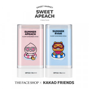 THE FACE SHOP [Summer Apeach] Natural Sun Eco Clear Sunscreen Stick SPF50+ PA++++ 20g