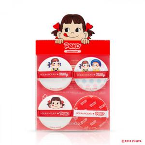 HOLIKA HOLIKA [Sweet Peko]  Hard Cover Cushion Puff 4ea