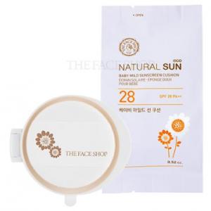 The Face Shop Natural Sun Eco Baby Mild Sun Cushion SPF28 PA++ (Refill) 15g