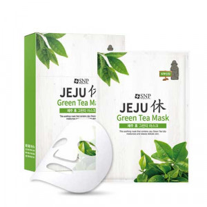 SNP JEJU Hue Green Tea Mask 22ml*10ea