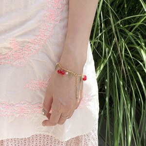 [R] Rowky red fruit bracelet 1pcs