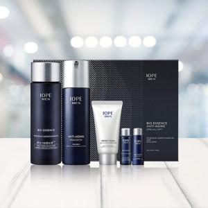 IOPE Men Bio 2PCs Set ( Anti-Aging Emulsion 120ml +  Essence Intensive Conditioning 145ml )