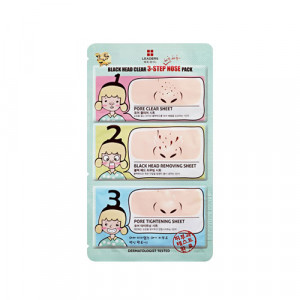 [R] Leaders Medi-You Blackhead Clear 3-Step Nose Pack 1pcs