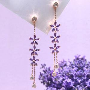 [R] Wingbling Lavender Bloom 1 Earrings 1pcs