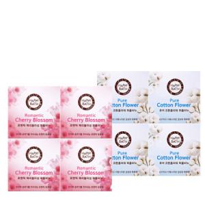 Happy Bath Flower Perfume Bar 100g*4ea