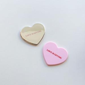 [R] Love Is Giving Mini Heart Mirror 1ea