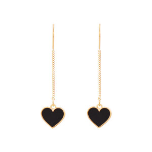 Noonoo fingers Mini Black Heart Earring