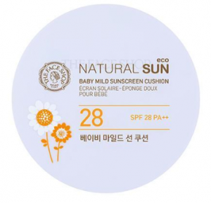 The Face Shop Natural Sun Eco Baby Mild Sun Cushion SPF28 PA++ 15g