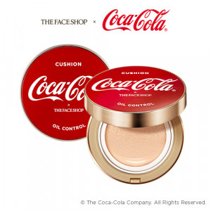 [C] THE FACE SHOP Coca Cola Oil Control Water Cushion SPF50+PA+++ 15g