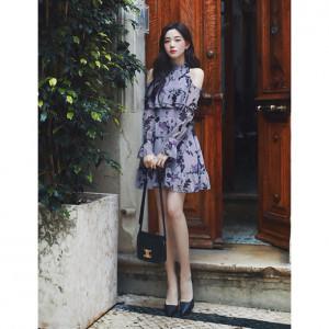 [R] Milkcocoa Amelie dress line.Romantic lavender rose dress, Size M
