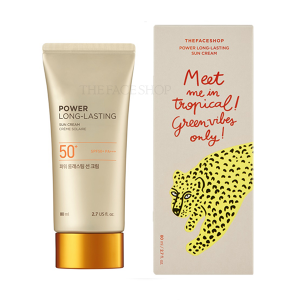 The Face Shop [Tropical Vibe Edition] Power Long Lasting Sun Cream SPF50+ PA+++ 80ml