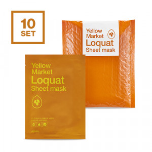 APIEU Yellow Market Loquat Sheet Mask 21g*10ea