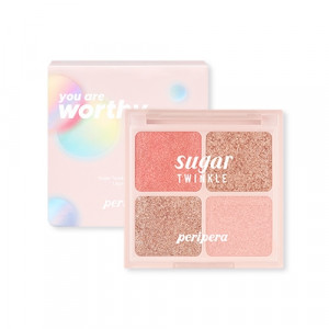 Peripera Mood Blank Collection Sugar Twinkle Glitter Palette 1.6g*4