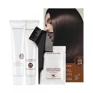 NATURE REPUBLIC Hair & Nature Hair Color Cream For Gray Hair (5N Natural Brown) 120g