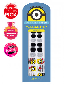 [R] Dashing Diva x Minions Pedi Gloss Nail Strip 1ea