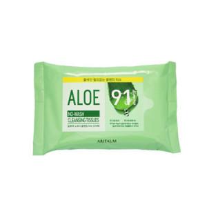 ARITAUMAloe No Wash Cleanging Tissues 20pcs