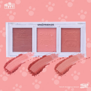 SPAO Beauty [We Bare Bears] Baby Bears Hello Bears 3 Color Cheek palette 3.6g*3