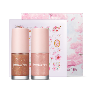 Innisfree [2020 Jeju Color Picker Cherry Blossom] Cherry Blossom Nail Set 6ml*2/ Sticker 1ea