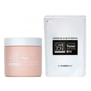 Carezone A-Cure Skin Surface One Shot Yoner Pad [Pad 60P, Toner 180ml]