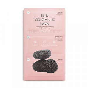 The Face Shop Jeju Volcanic Lava 3-Step Impurity Removing Nose Strip Kit 1set