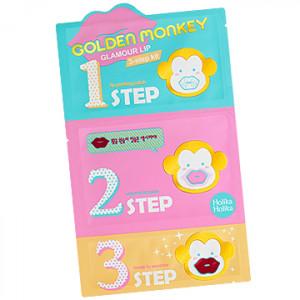 HolikaHolika Golden Monkey Glamour Lip 3 Step Kit 5.5g(1EA)