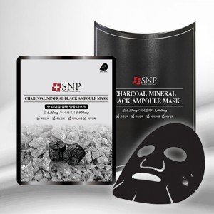 SNP Charcoal Mineral Black Ampoule Mask 25ml*10ea