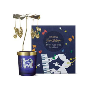 Innisfree [2019 Green Holiday] Bright Music Notes Scented Candle 60g