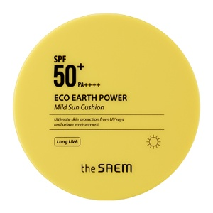 The Saem Eco Earth Power Mild Sun Cushion SPF50+ PA++++  15g