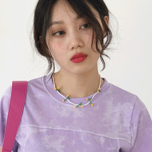[R] Rowky Cherry necklace 1pcs