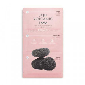 The Face Shop Jeju Volcanic Lava 3-step Blackhead Remover Nose Strips 1pcs(4ml+1ea+4ml)