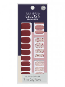 Dashing Diva [Retro City] Gloss Strip - Merlot Wine