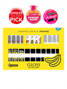 [R] Dashing Diva x Minions Gloss Gel Nail Strip 1ea