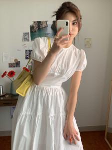 [R] Loulouseoul Bonjour Ribbon Dress 1pcs