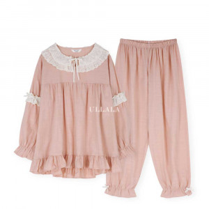 [R] ULLALA PAJAMAS [WTLL20110K] Love Able 2 Cropped Two Piece 1set