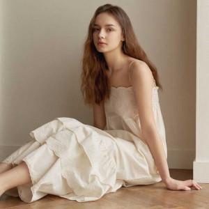 [R] ULLALA PAJAMAS [WONX20125K/V] Ogaden sleeveless dress - Cream