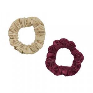 [R] Shirring Scrunchie Duo_Burgundy