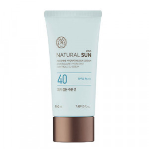 The Face Shop Natural Sun Eco No Shine Hydrating Sun Cream SPF 40 PA+++ 100ml (Large capacity)