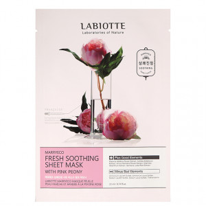LABIOTTE Marryeco Fresh Soothing Sheet Mask With Pinkpeony 22ml*10ea
