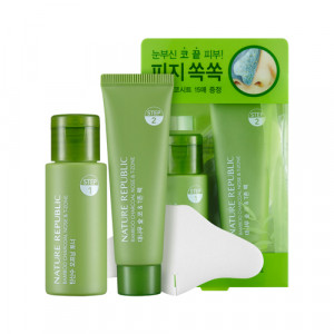 Nature Republic Bamboo Charcoal Nose & T Zone Pack 33ml + 25ml